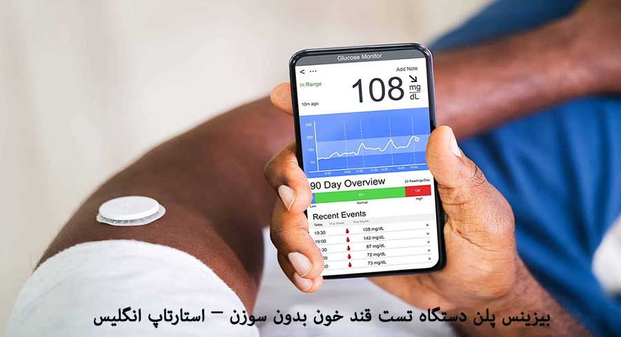 بیزینس پلن دستگاه تست قند خون بدون سوزن - استارتاپ انگلیس